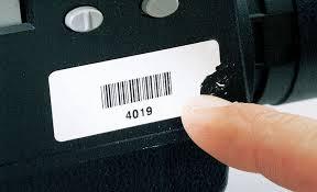 Voorbeeld van een sticker gemaakt van ultra destructable vinyl.